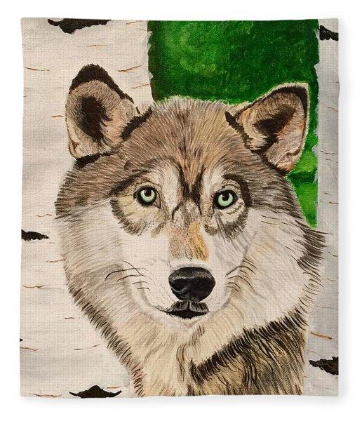 Green Eyes Fleece Blanket