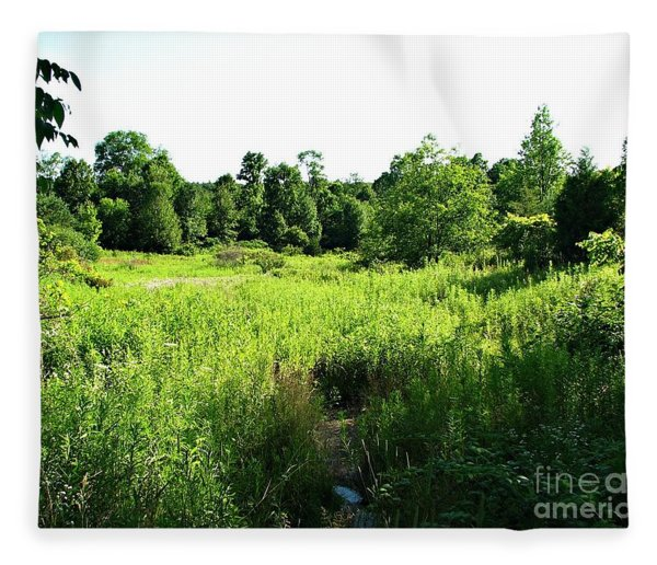 Green Meadow Fleece Blanket