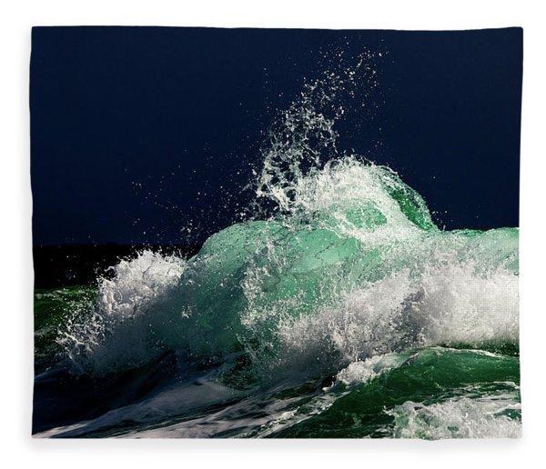 Green Storm Fleece Blanket