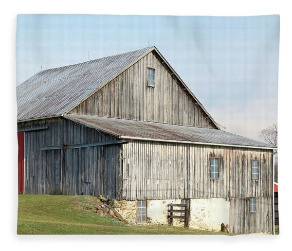 Rustic Barn Fleece Blanket