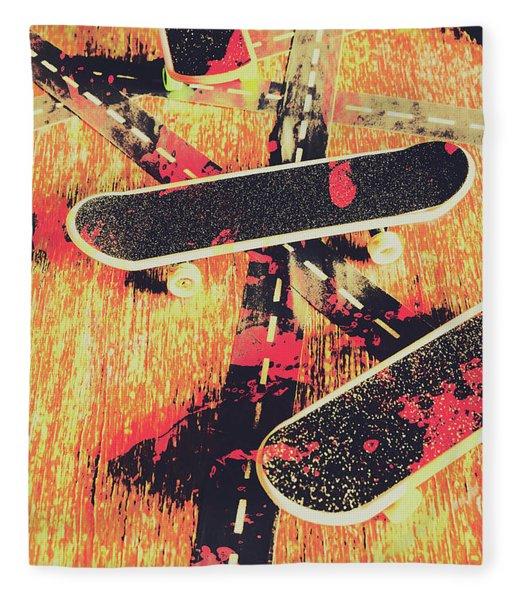 Grunge Skate Art Fleece Blanket