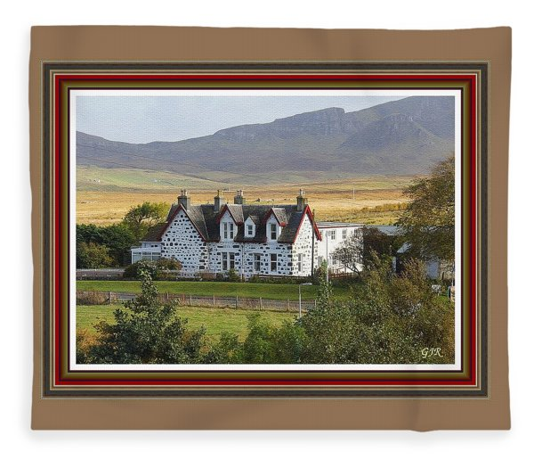Guesthouse Near Fraserhurst. L A S  With Decorative Ornate Printed Frame. Fleece Blanket