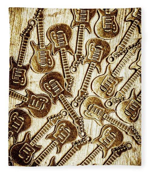Guitar Echo Chamber Fleece Blanket