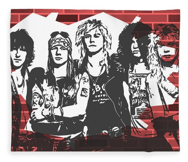 Guns N Roses Graffiti Tribute Fleece Blanket