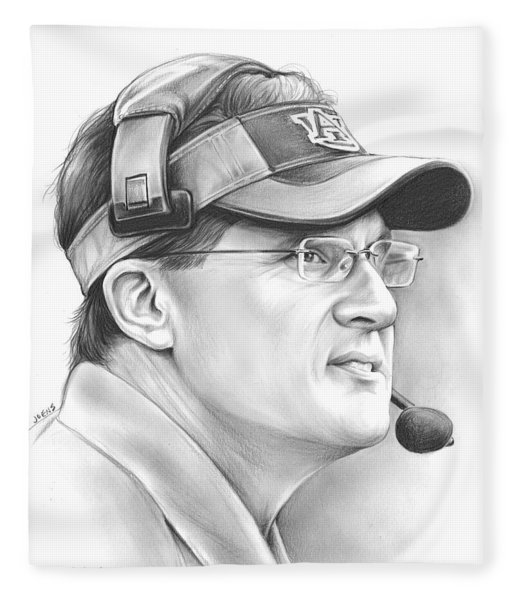 Gus Malzahn Fleece Blanket