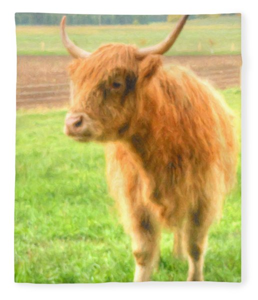 Fleece Blanket featuring the photograph Hairy Coos by Garvin Hunter