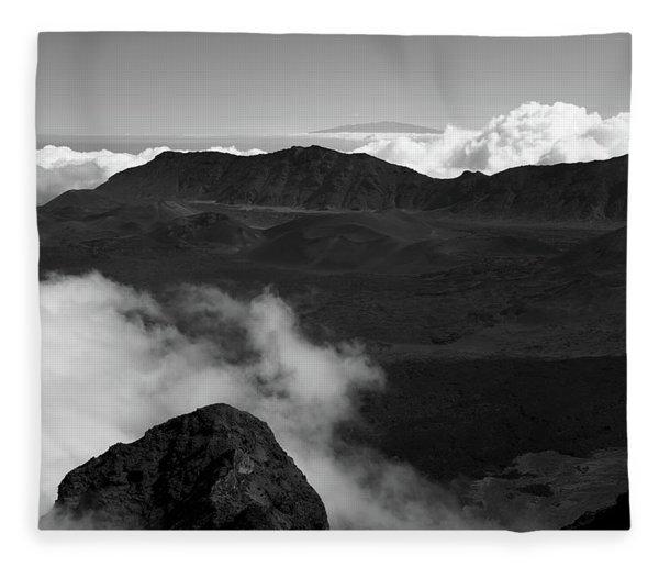 Haleakala B/w Fleece Blanket
