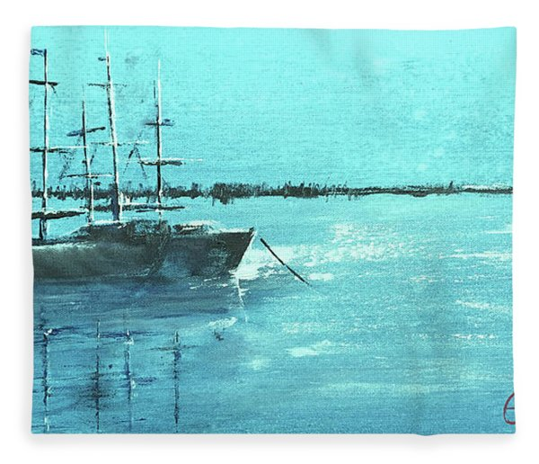 Half Moon Harbor Fleece Blanket