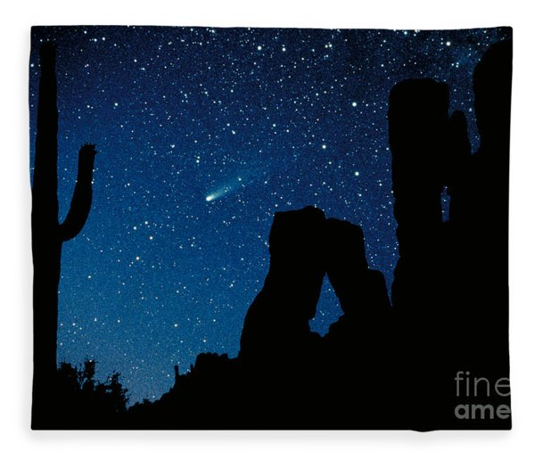 Halley's Comet Fleece Blanket