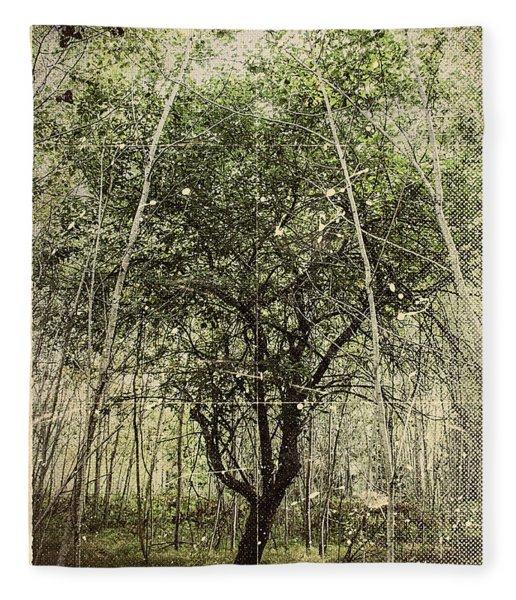 Hand Of God Apple Tree Poster Fleece Blanket