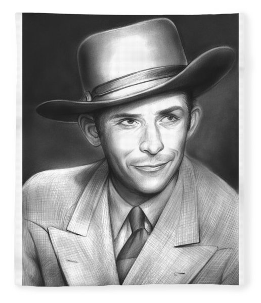 Hank Williams Fleece Blanket
