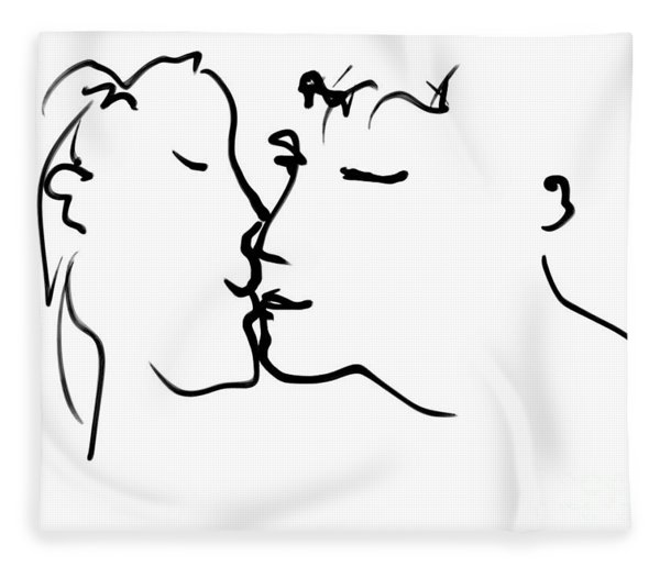 Happy Couple Fleece Blanket