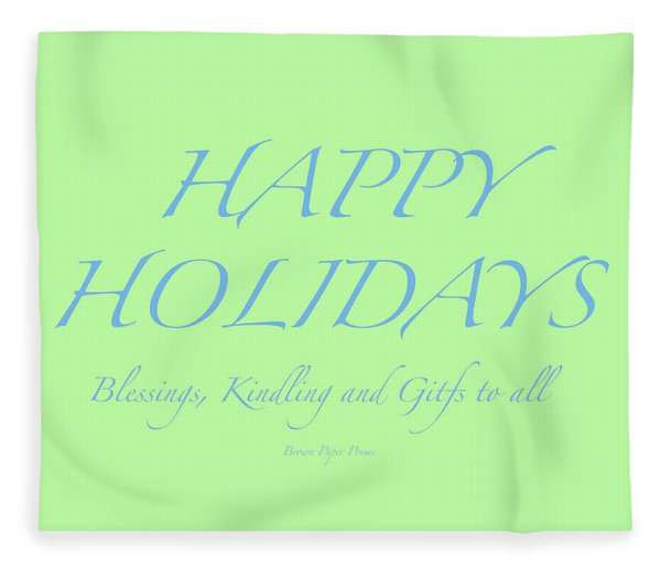 Happy Holidays - Day 4 Fleece Blanket