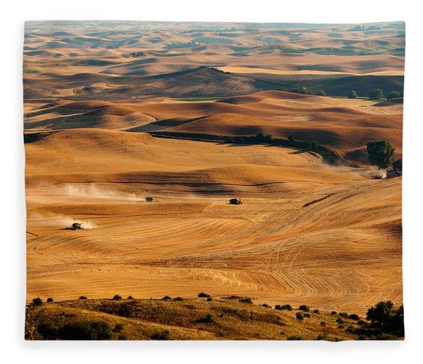 Harvest Overview Fleece Blanket