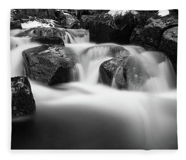 Harz Mountain Stream Fleece Blanket