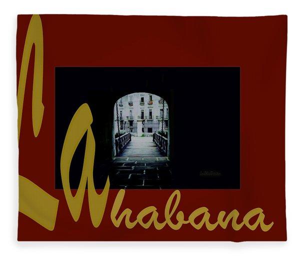 Havana Poster 2 Fleece Blanket
