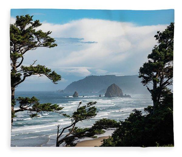 Haystack Views Fleece Blanket