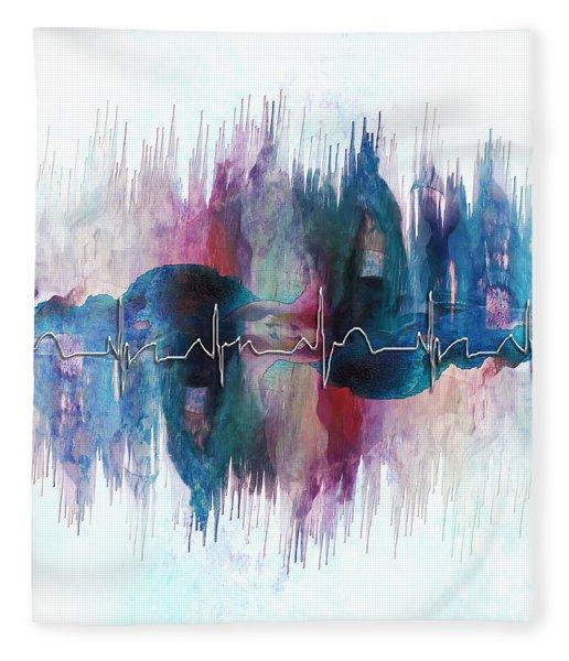Heartbeat Drama Fleece Blanket