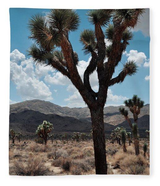 Hidden Valley Joshua Tree Portrait Fleece Blanket