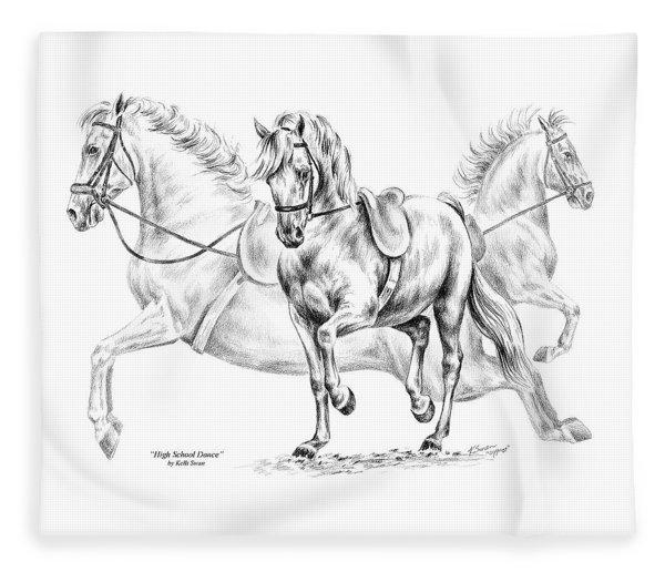 High School Dance - Lipizzan Horse Print Fleece Blanket