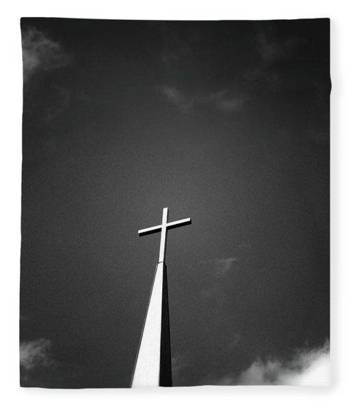 Higher To Heaven - Black And White Photography By Linda Woods Fleece Blanket