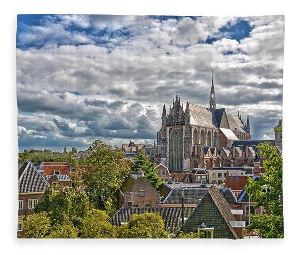 Highland Church Seen From Leiden Castle Fleece Blanket