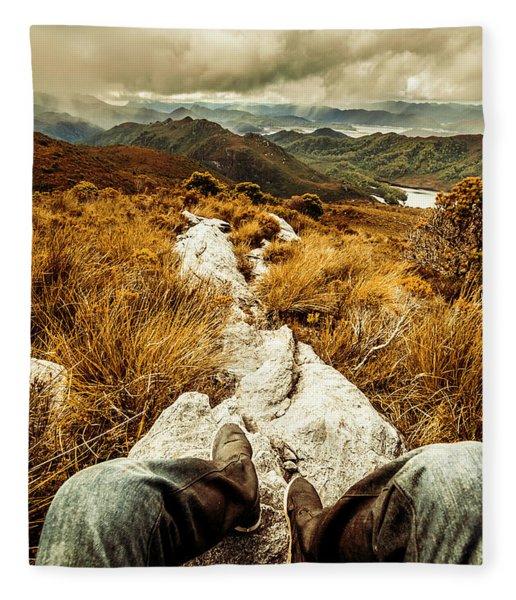 Hiking The Mount Sprent Trail Fleece Blanket