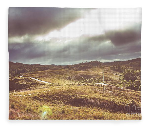 Hills And Outback Tracks Fleece Blanket