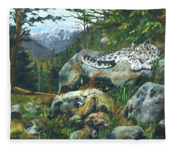 Himalayan Dreaming On Such A Summer's Day Fleece Blanket