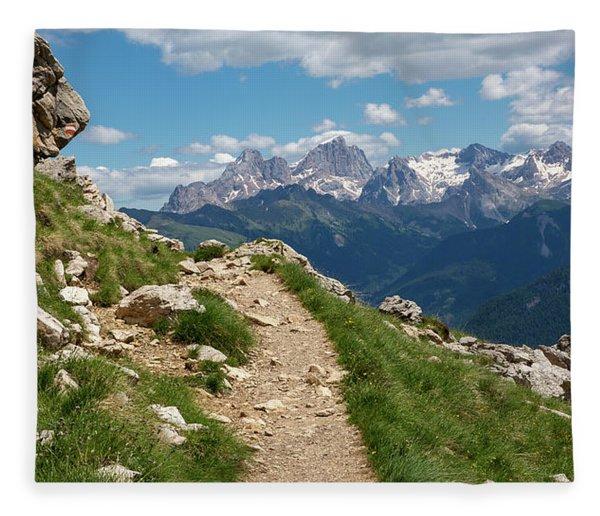 Hirzelsteig, South Tyrol Fleece Blanket