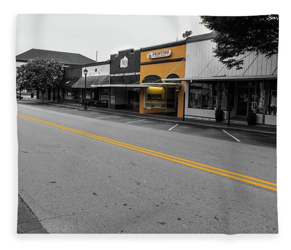 Historic Buford In Selective Color Fleece Blanket