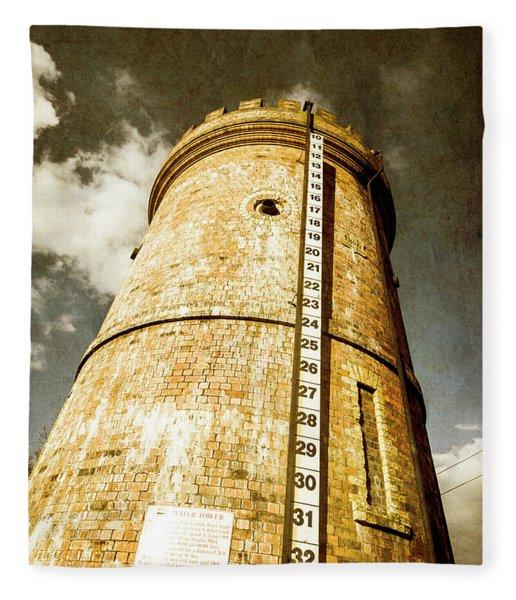Historic Water Storage Structure Fleece Blanket