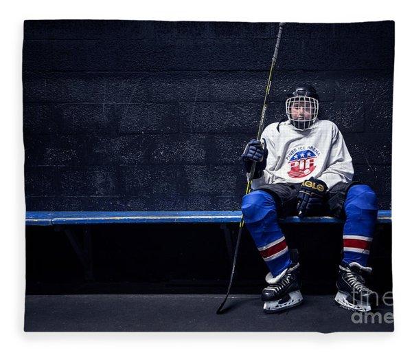 Hockey Strong Fleece Blanket