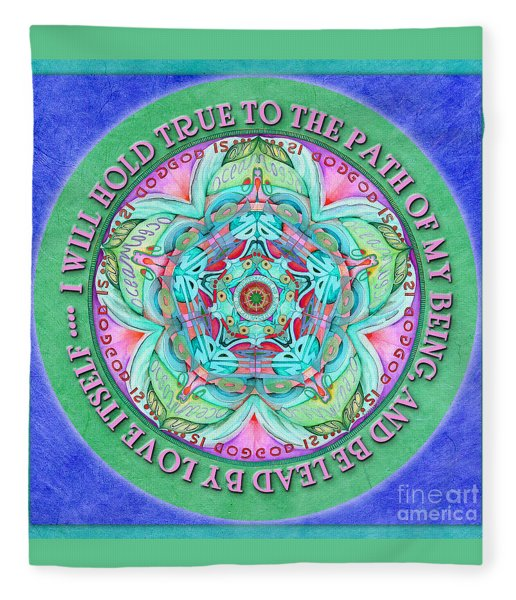 Hold True Mandala Prayer Fleece Blanket