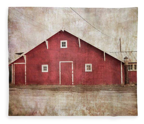 Home Place Barn Fleece Blanket