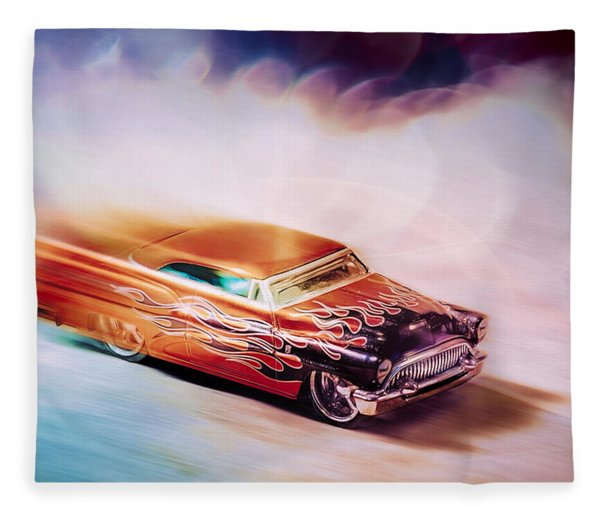 Hot Rod Racer Fleece Blanket