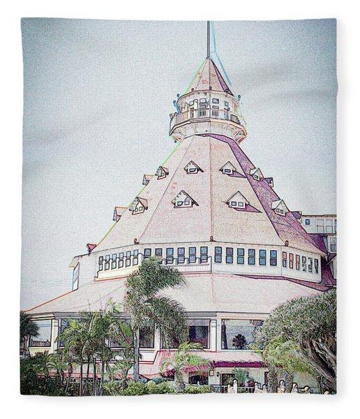 Hotel Del Coronado Fleece Blanket