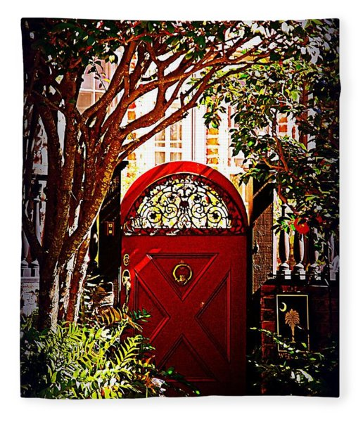 House Door 5 In Charleston Sc  Fleece Blanket