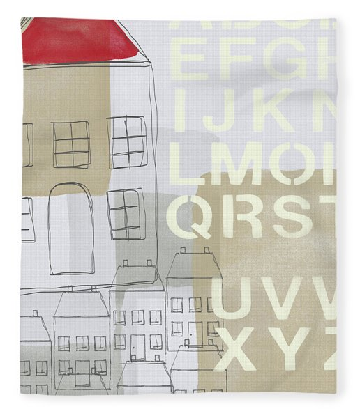 House Plans 2- Art By Linda Woods Fleece Blanket