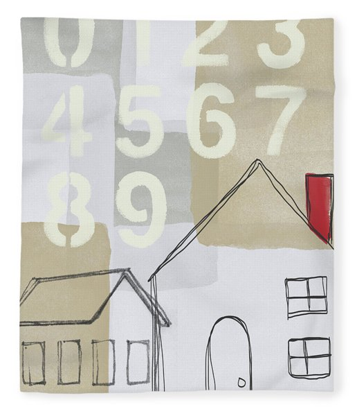 House Plans 3- Art By Linda Woods Fleece Blanket