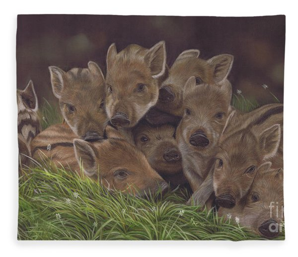 Huddle Of Humbugs Fleece Blanket