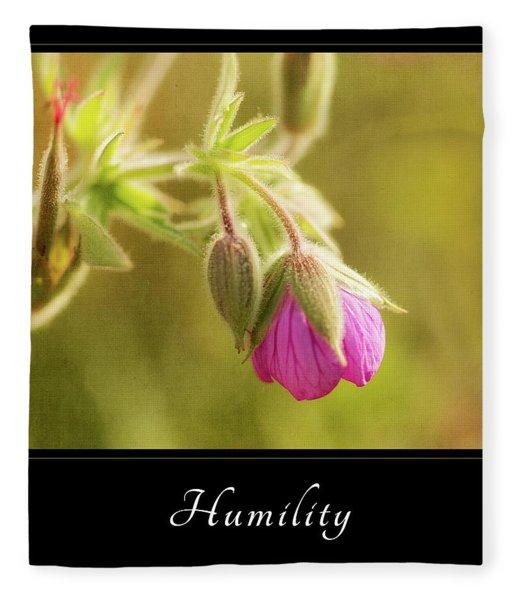 Humility 3 Fleece Blanket