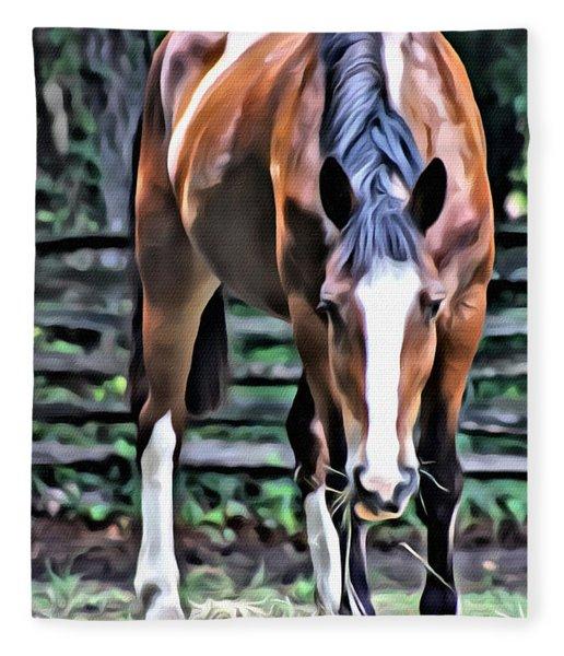 Hungry Horse 1 Fleece Blanket