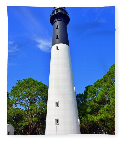 Hunting Island Lighthouse Beaufort Sc Fleece Blanket