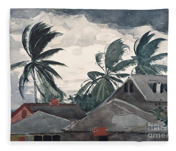 Hurricane, Bahamas, 1898 Fleece Blanket