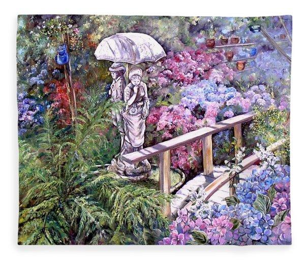 Hydrangea In The Formosa Gardens Fleece Blanket