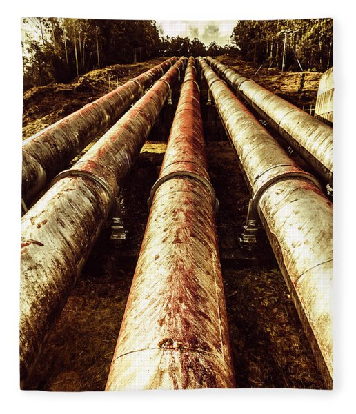 Hydroelectric Pipeline Fleece Blanket