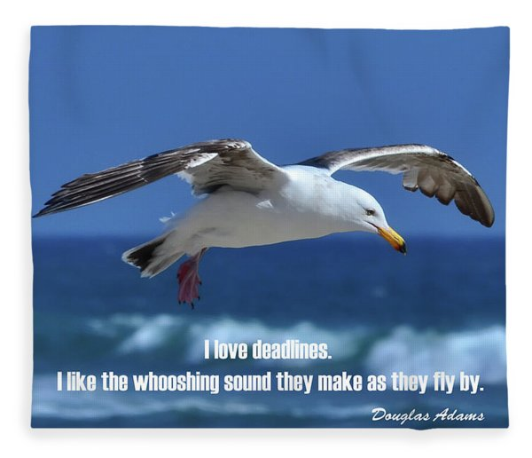 I Love Deadlines Douglas Adams Fleece Blanket