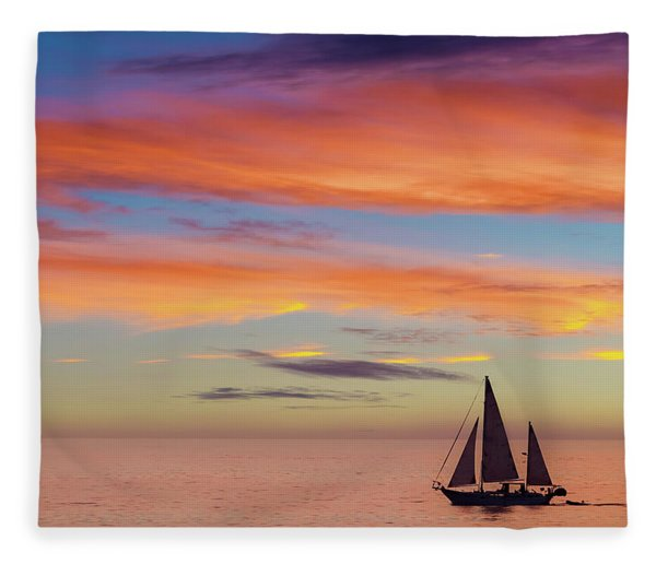 I Will Sail Away, And Take Your Heart With Me Fleece Blanket