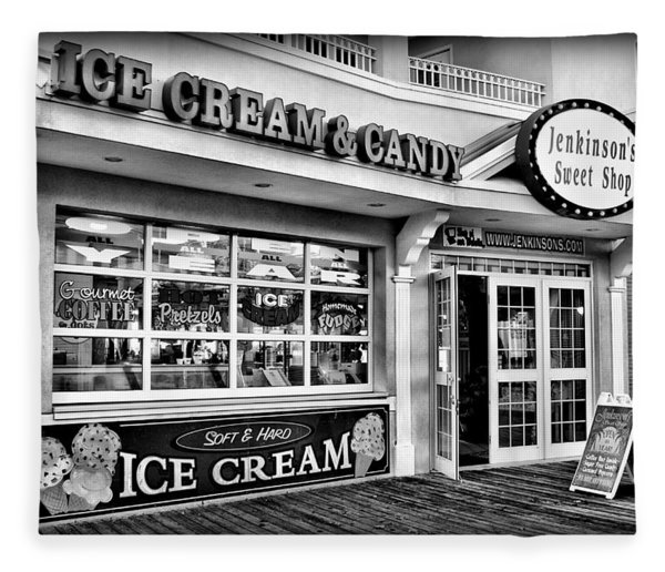 Ice Cream And Candy Shop At The Boardwalk - Jersey Shore Fleece Blanket